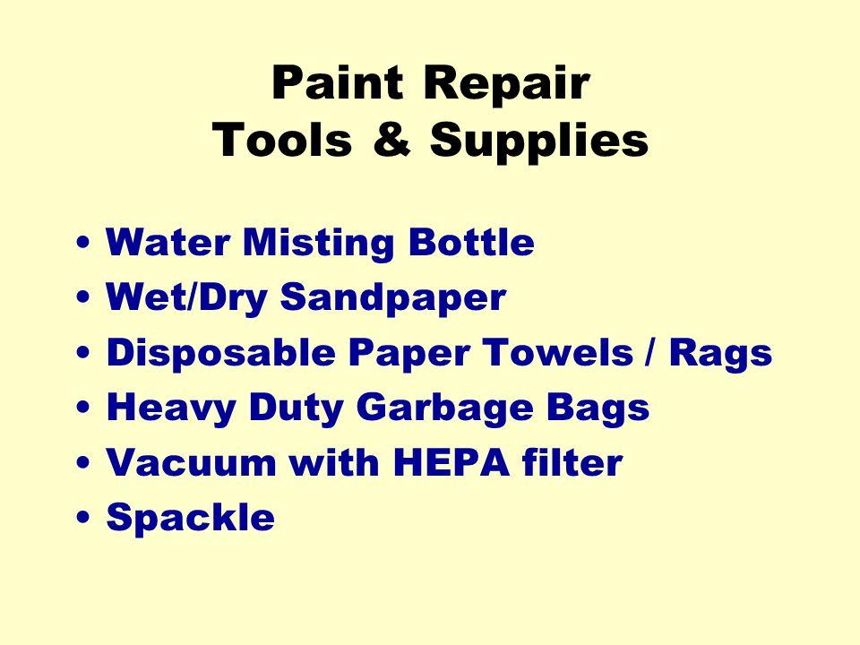 Paint Repair Tools & Supplies