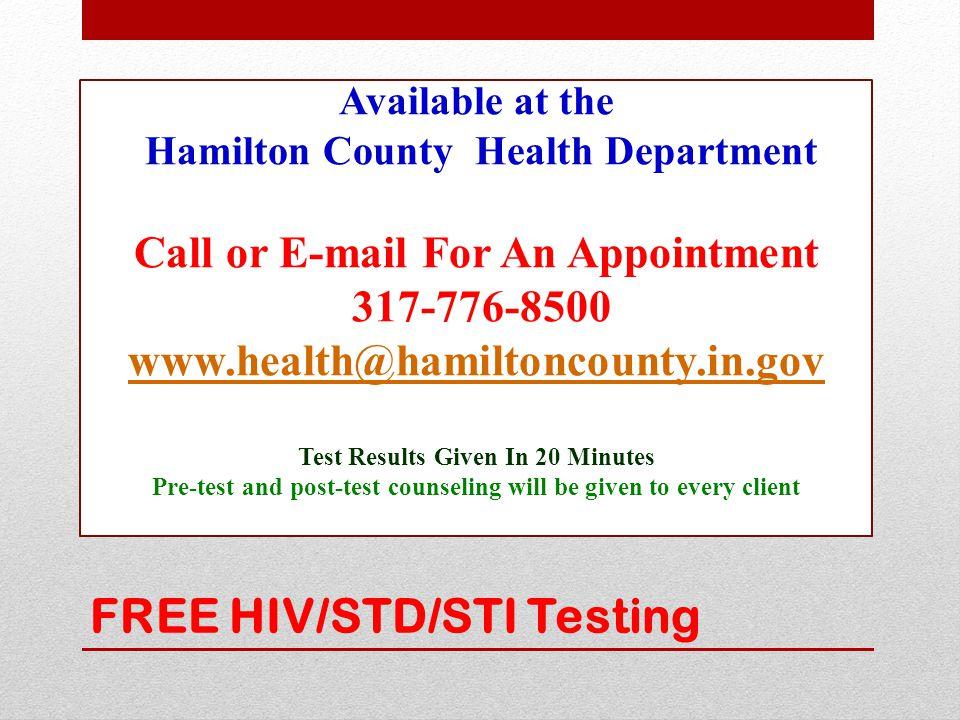 FREE HIV/STD/STI Testing