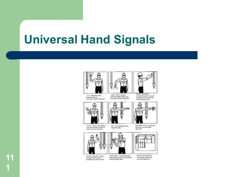 Universal Hand Signals