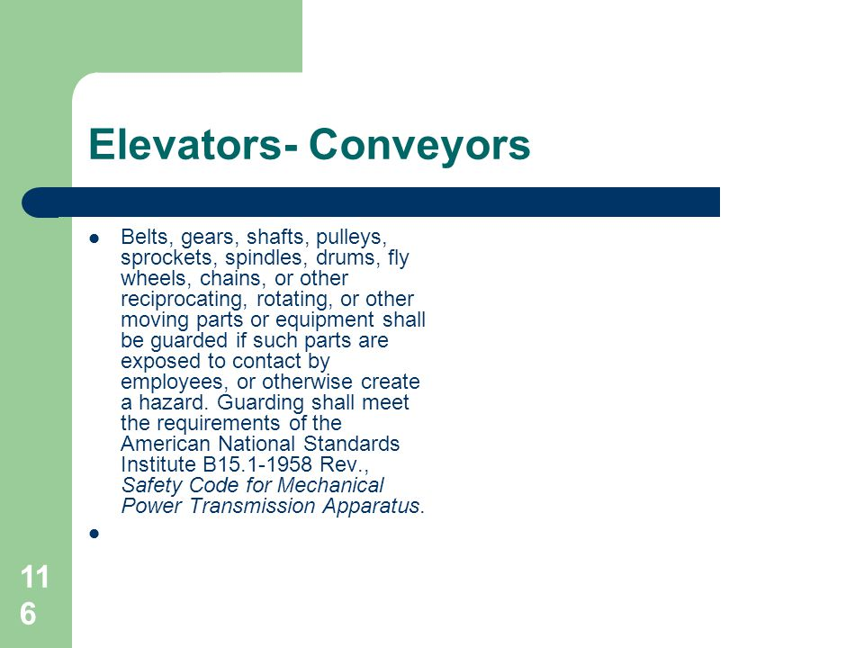 Elevators- Conveyors