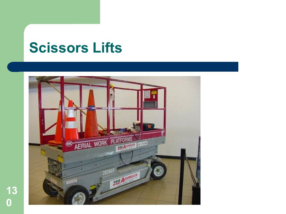 Scissors Lifts Falls under the Scaffolding Reg