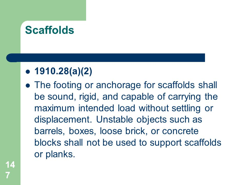 Scaffolds 1910.28(a)(2)