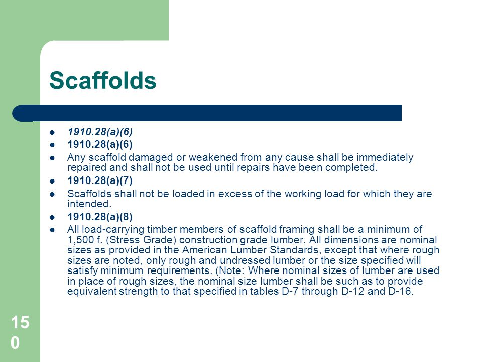 Scaffolds 1910.28(a)(6)