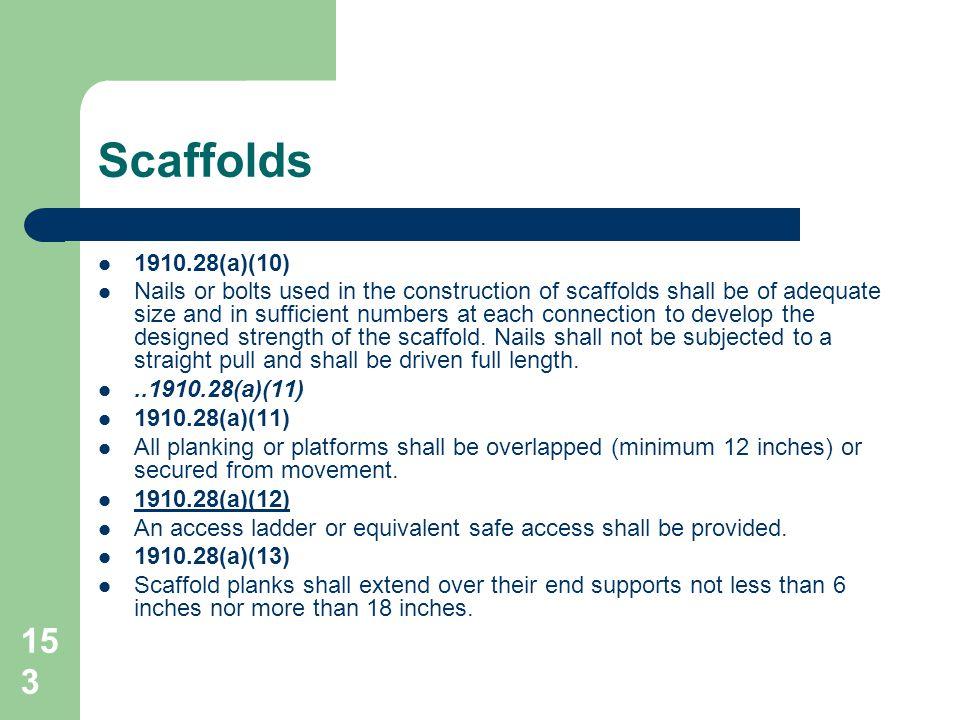 Scaffolds 1910.28(a)(10)
