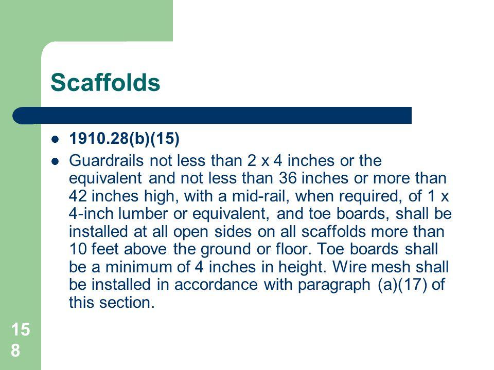 Scaffolds 1910.28(b)(15)