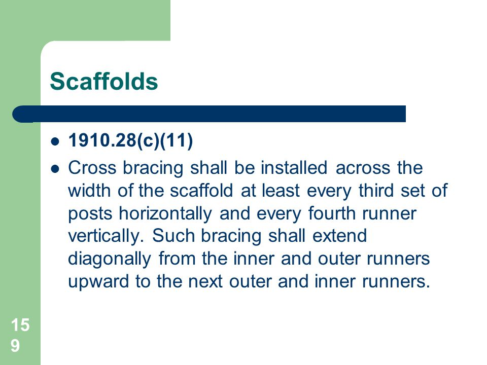Scaffolds 1910.28(c)(11)
