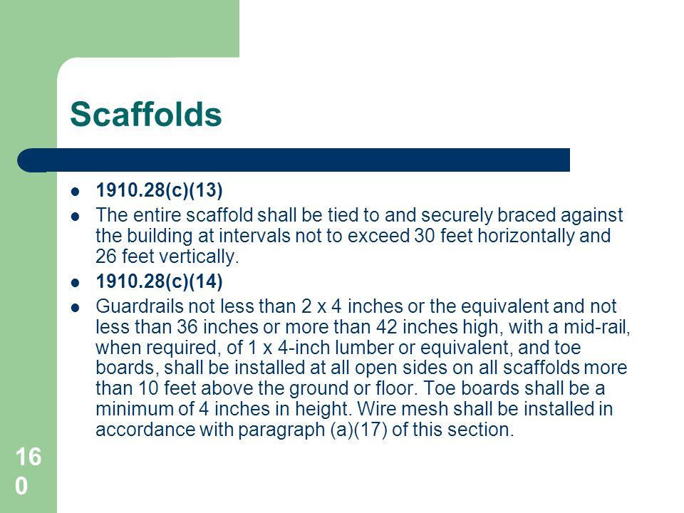 Scaffolds 1910.28(c)(13)