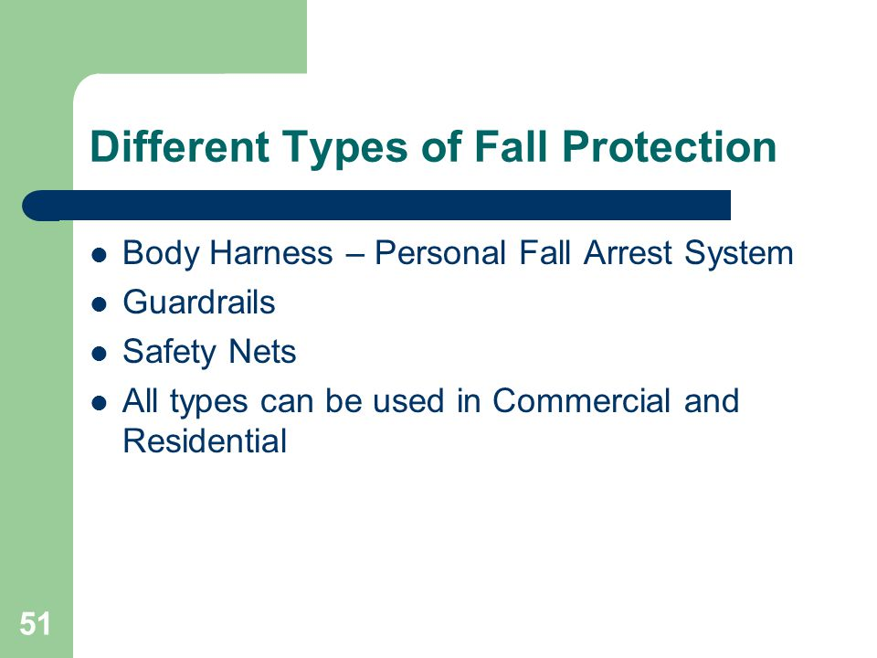 Different Types of Fall Protection