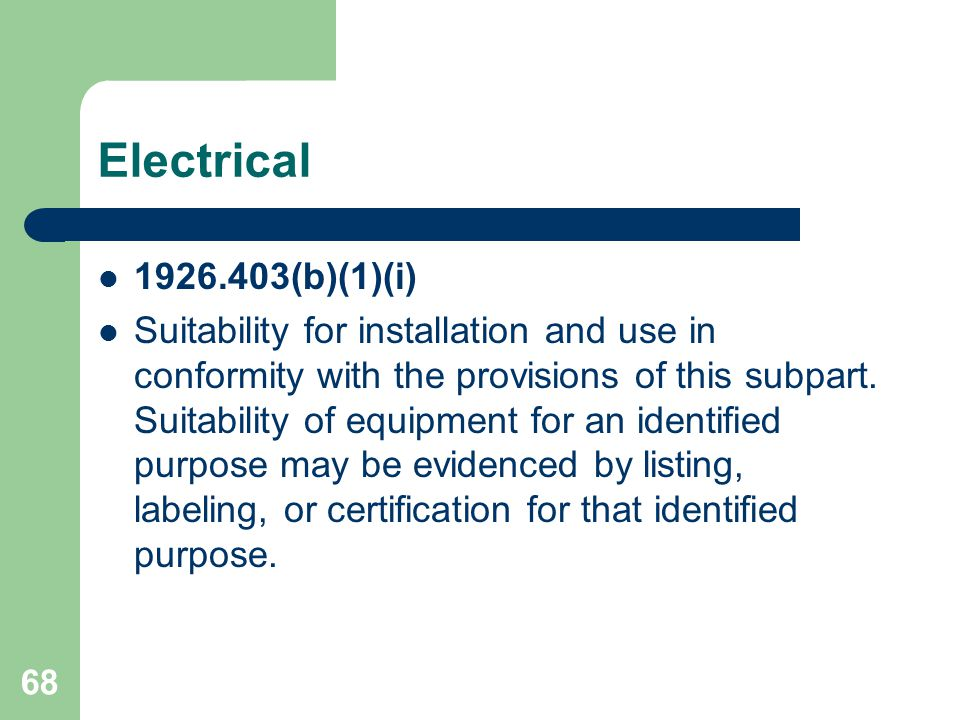 Electrical 1926.403(b)(1)(i)