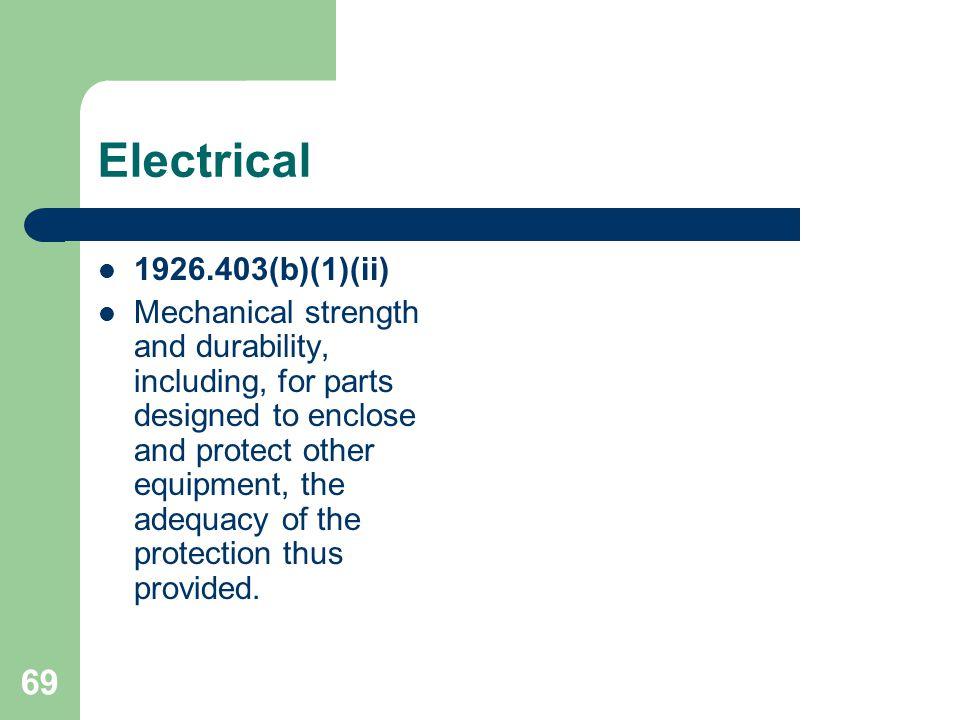 Electrical 1926.403(b)(1)(ii)