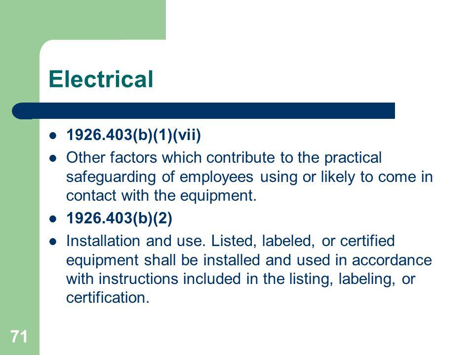 Electrical 1926.403(b)(1)(vii)