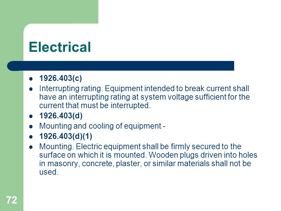 Electrical 1926.403(c)