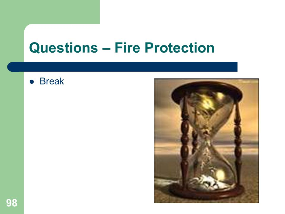 Questions – Fire Protection
