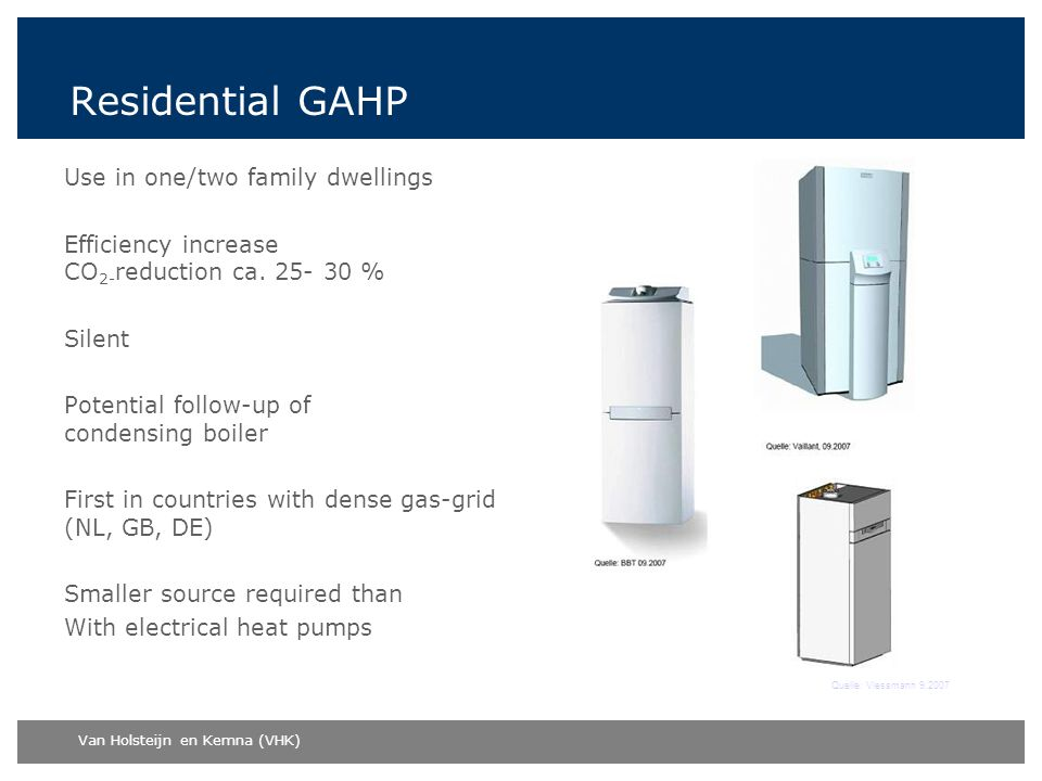 Residential GAHP Use in one/two family dwellings