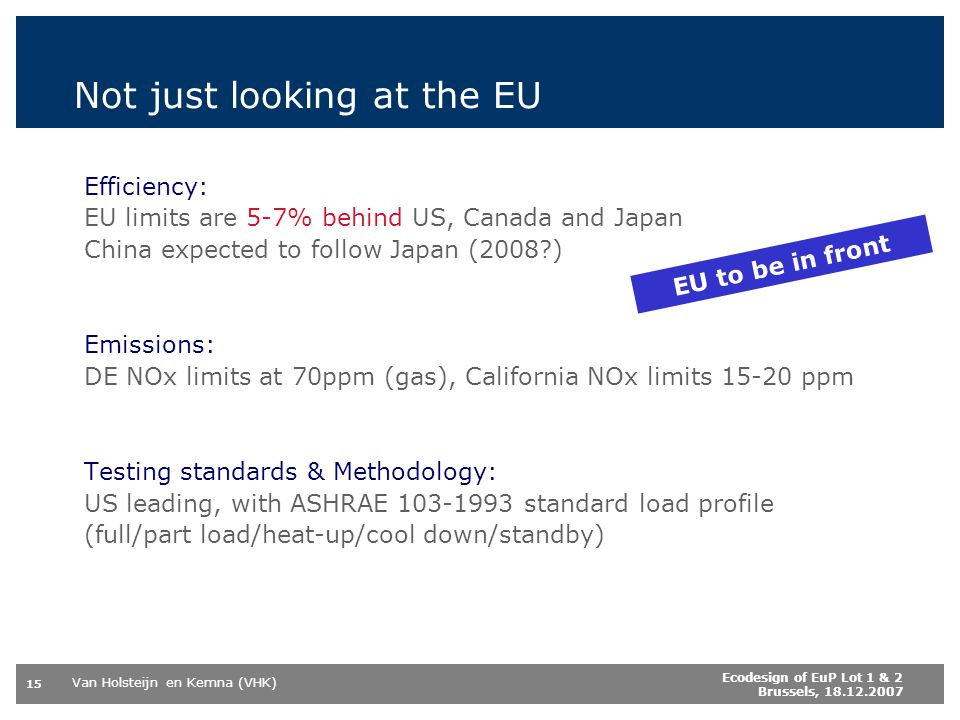 Not just looking at the EU
