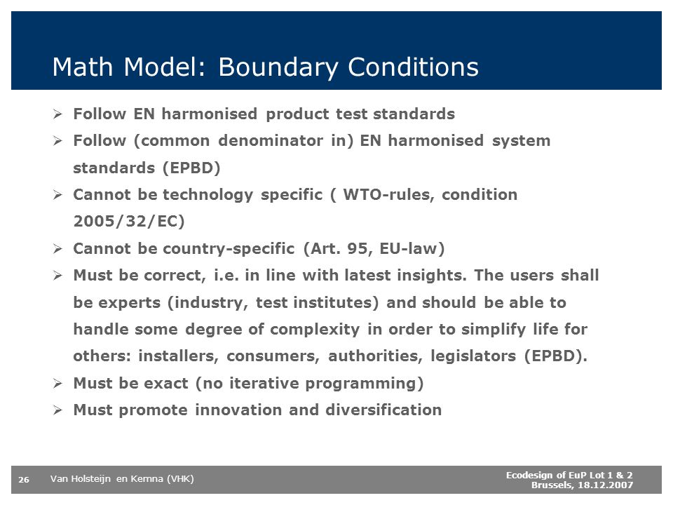 Math Model: Boundary Conditions