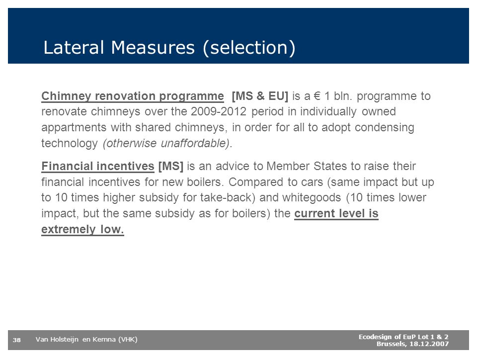 Lateral Measures (selection)