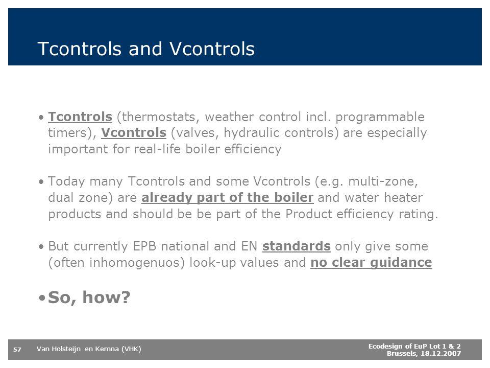 Tcontrols and Vcontrols