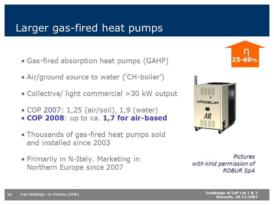 Larger gas-fired heat pumps