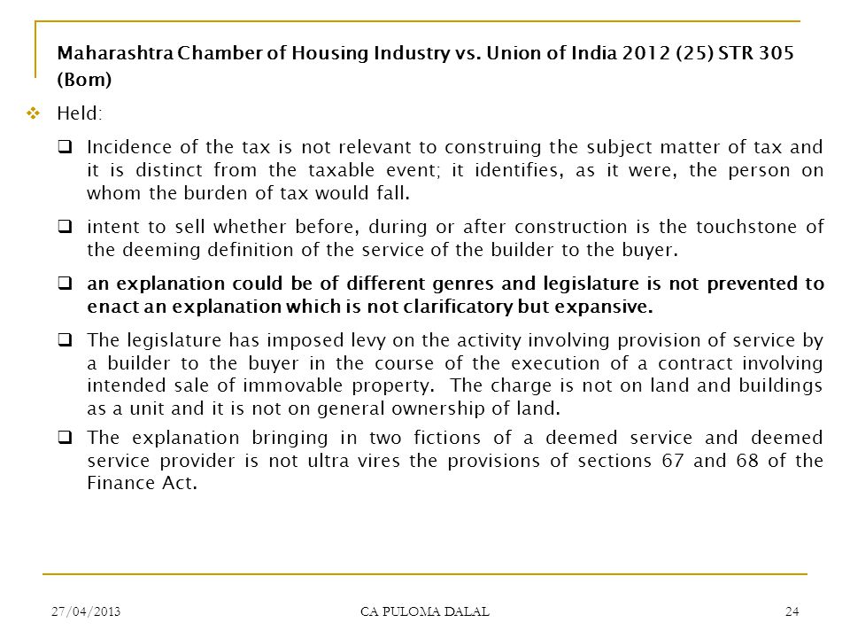 Maharashtra Chamber of Housing Industry vs