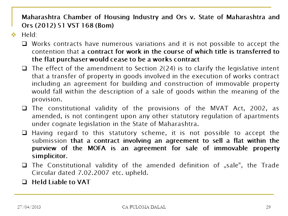 Maharashtra Chamber of Housing Industry and Ors v