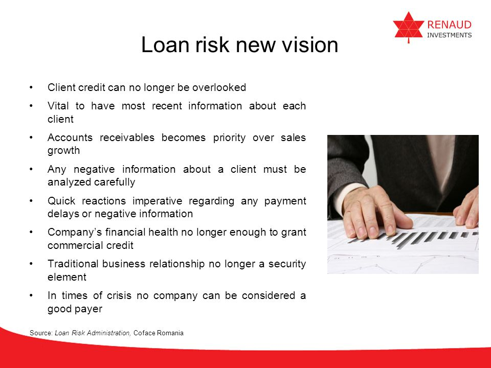 Loan risk new vision Client credit can no longer be overlooked