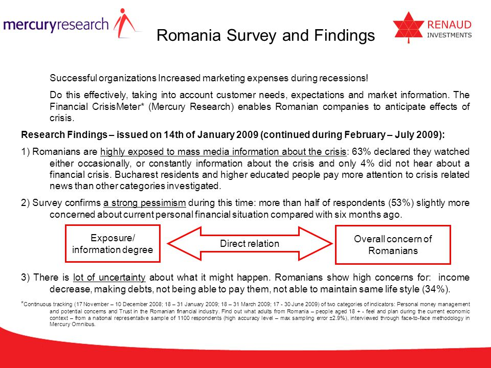 Romania Survey and Findings