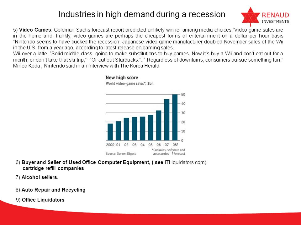 Industries in high demand during a recession