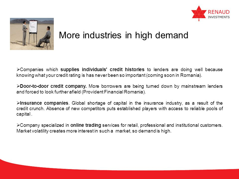 More industries in high demand
