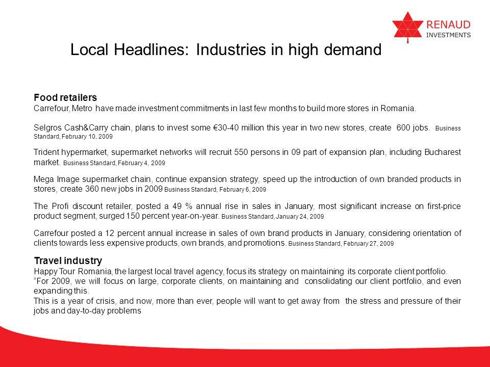 Local Headlines: Industries in high demand