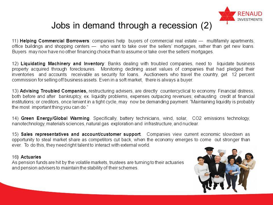 Jobs in demand through a recession (2)