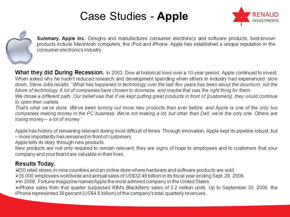 Case Studies - Apple