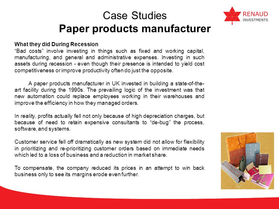 Paper products manufacturer