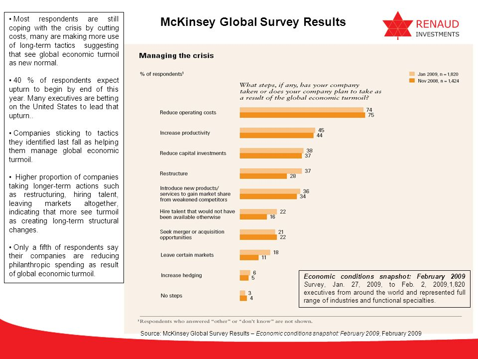 McKinsey Global Survey Results