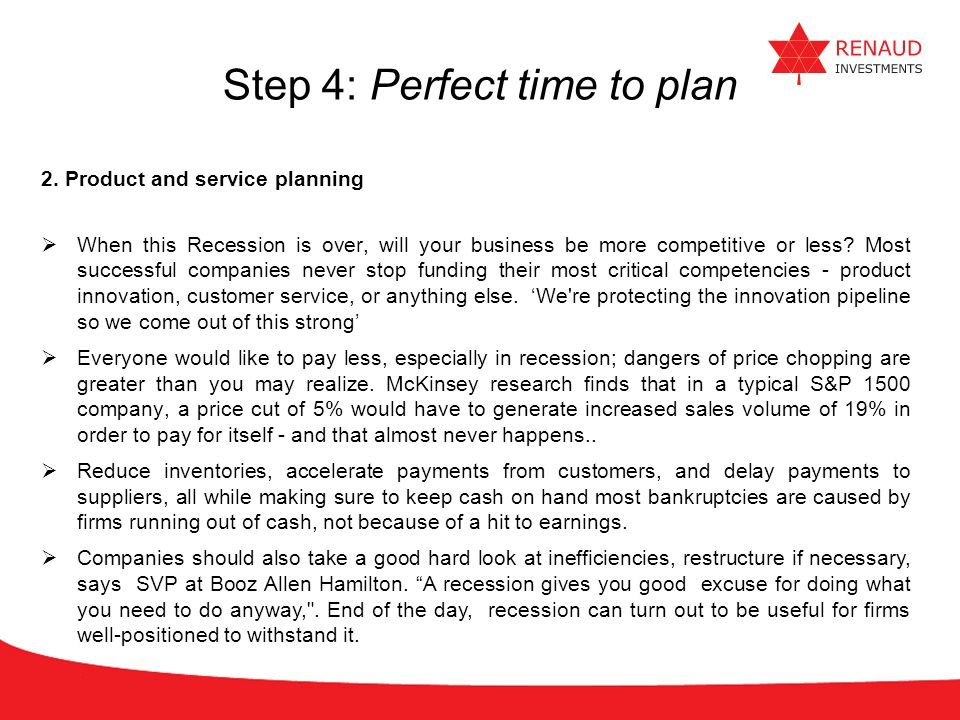 Step 4: Perfect time to plan