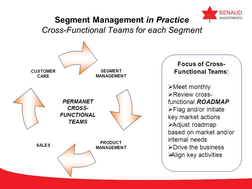 Segment Management in Practice Cross-Functional Teams for each Segment
