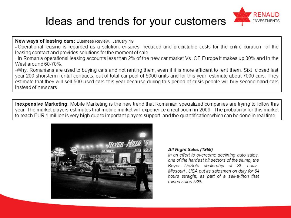 Ideas and trends for your customers