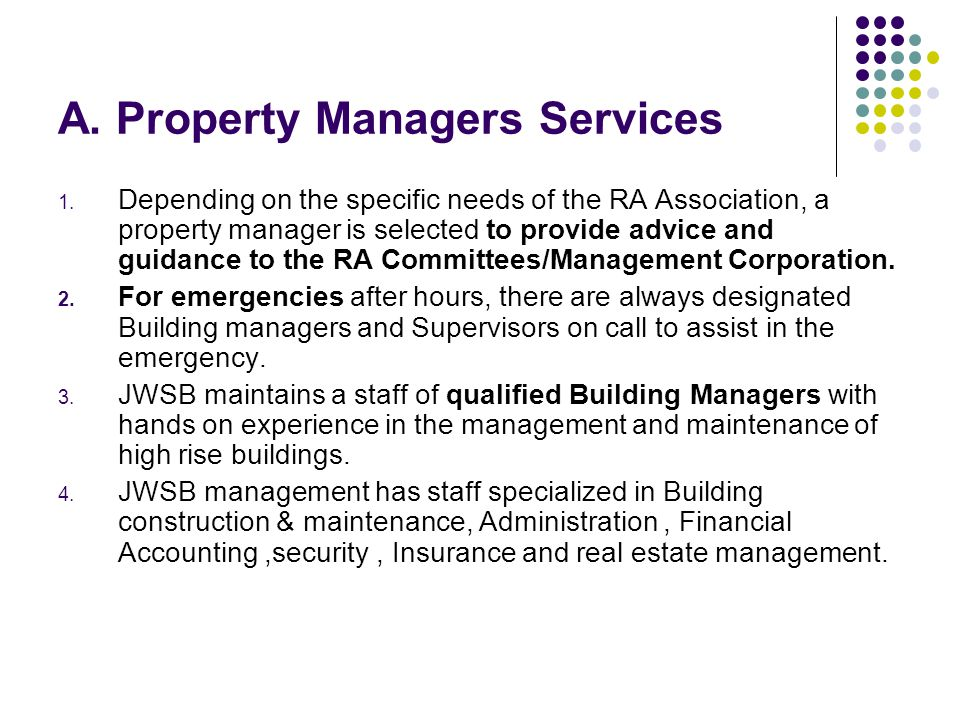 A. Property Managers Services