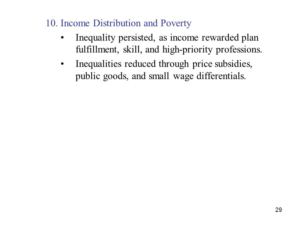 10. Income Distribution and Poverty
