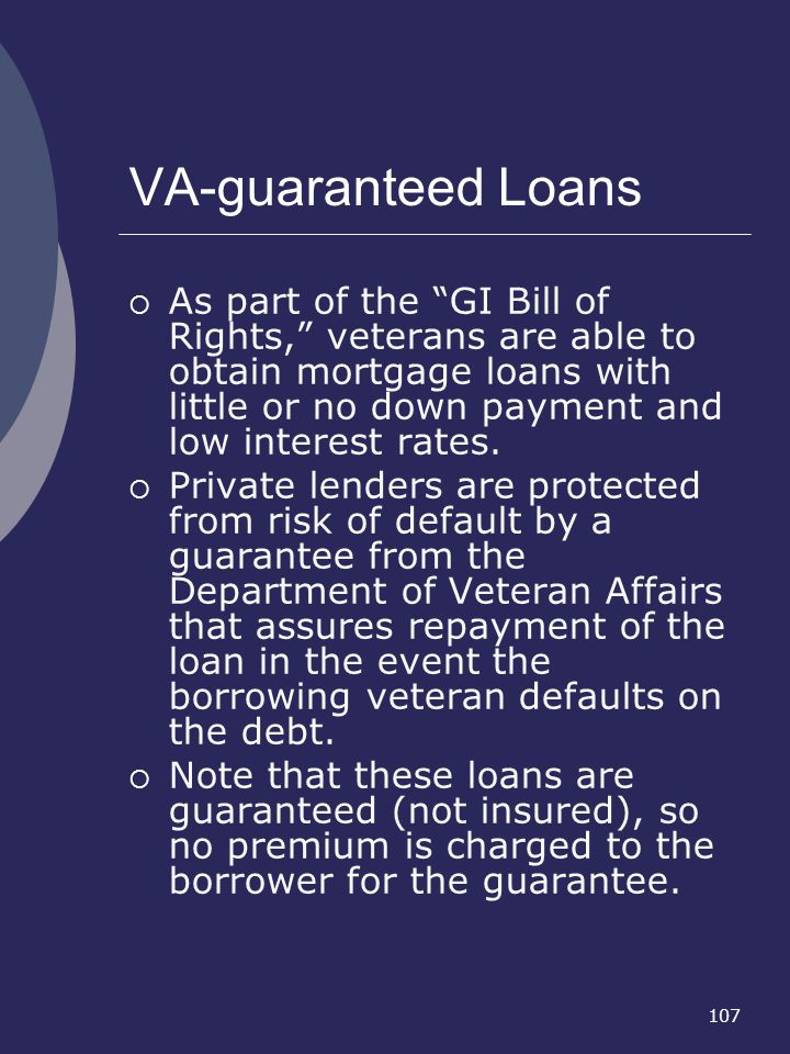 VA-guaranteed Loans