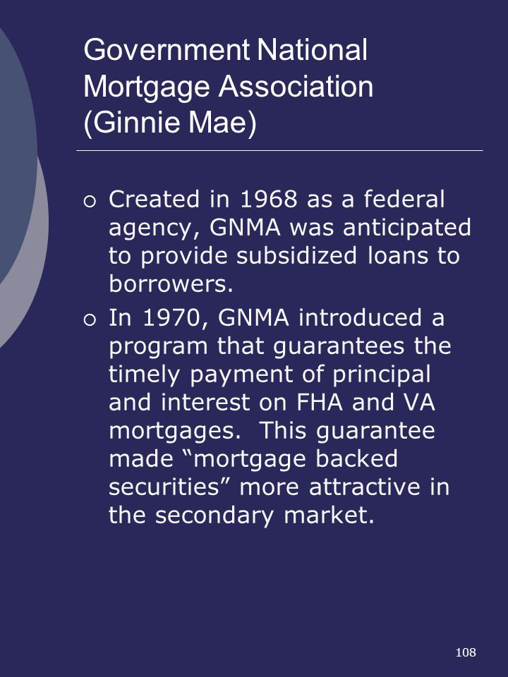 Government National Mortgage Association (Ginnie Mae)