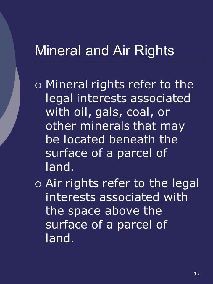 Mineral and Air Rights