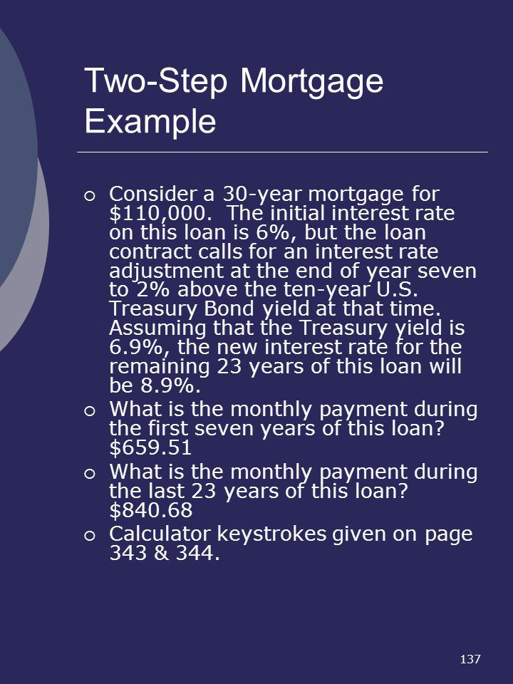 Two-Step Mortgage Example