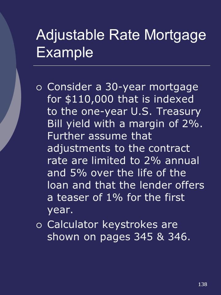 Adjustable Rate Mortgage Example