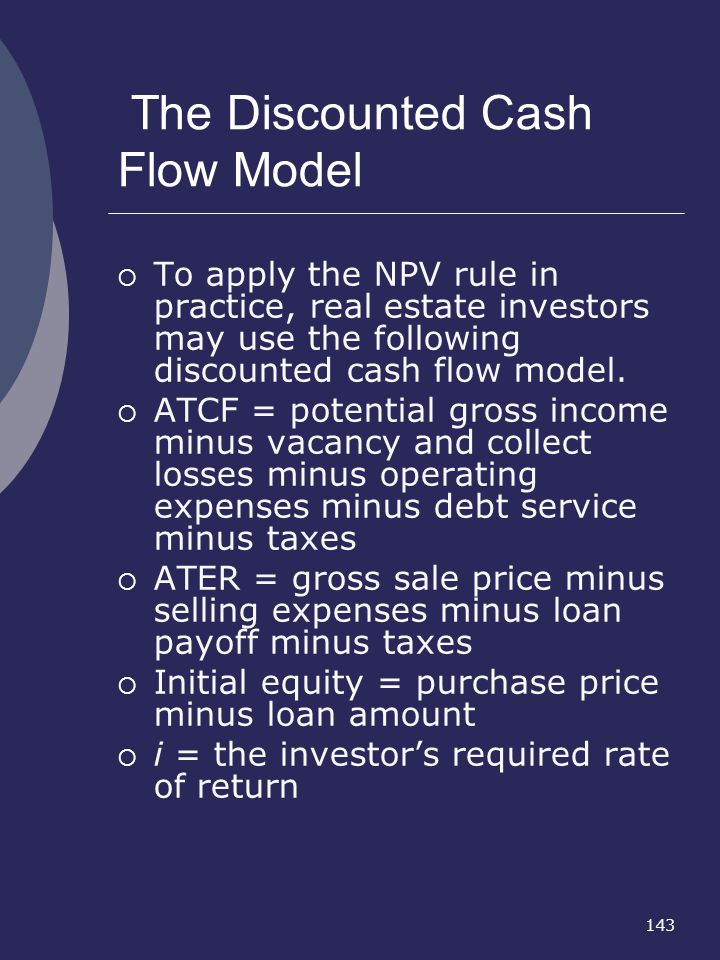 The Discounted Cash Flow Model
