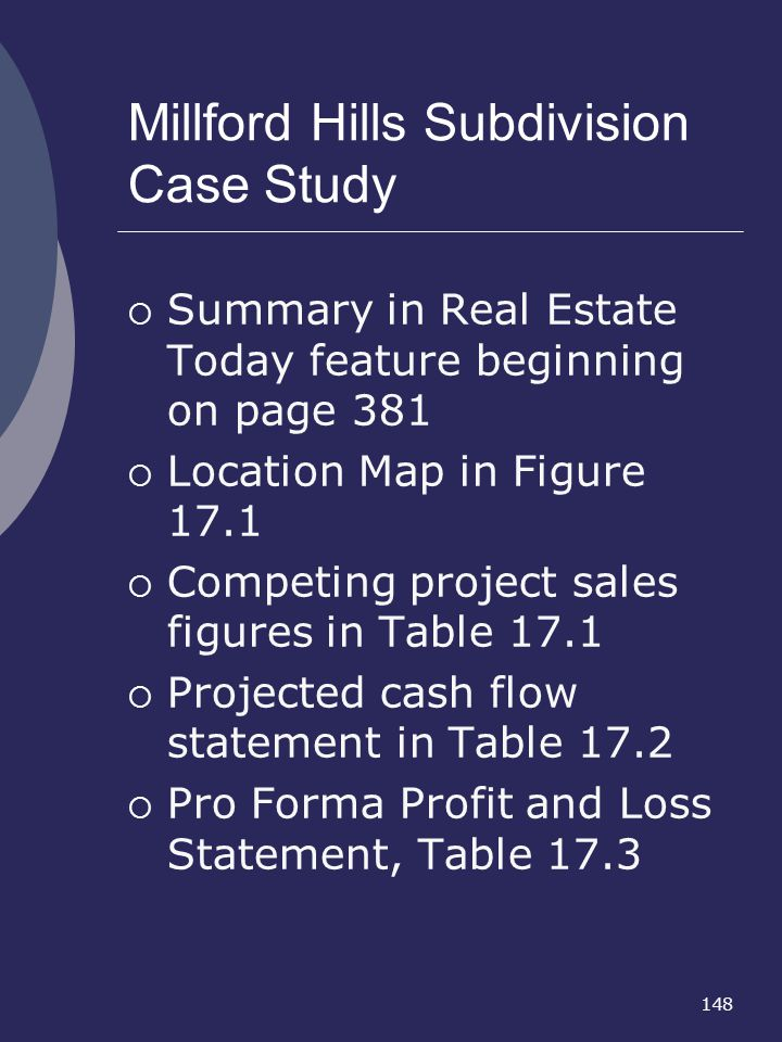 Millford Hills Subdivision Case Study