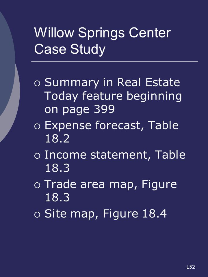 Willow Springs Center Case Study