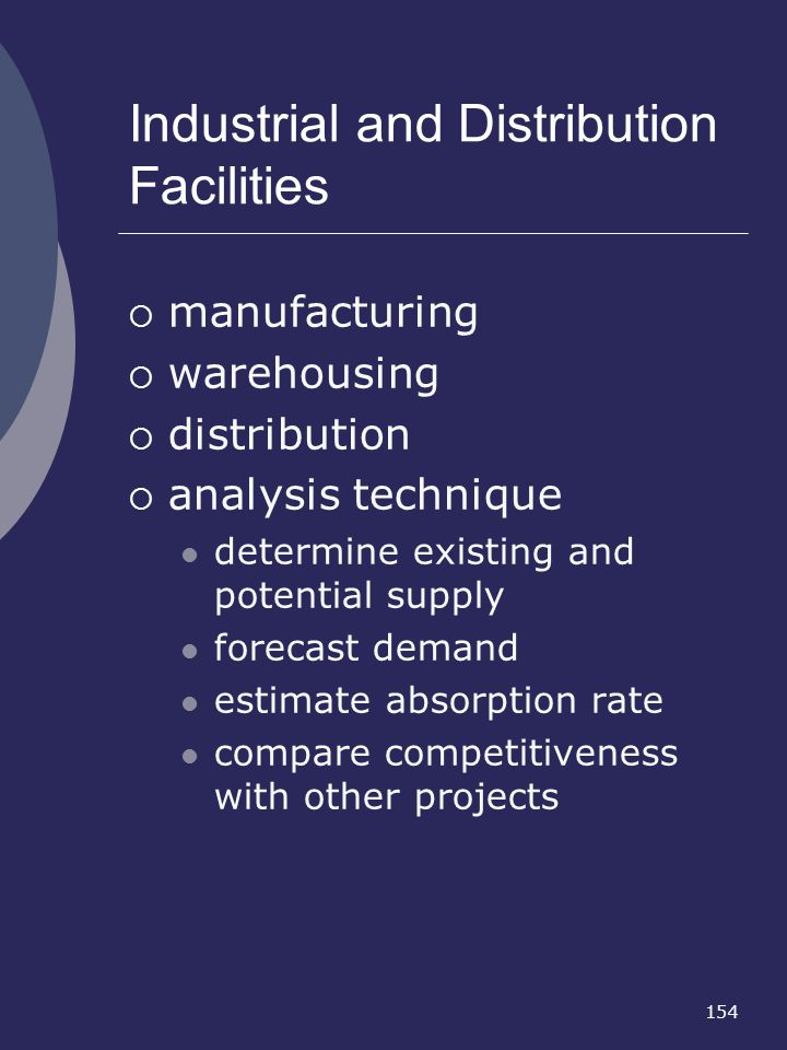 Industrial and Distribution Facilities