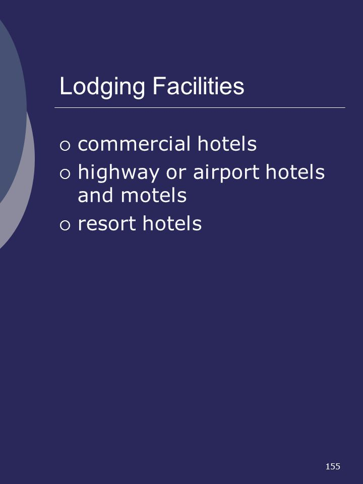 Lodging Facilities commercial hotels