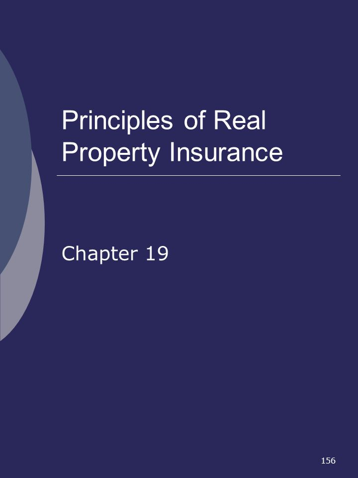 Principles of Real Property Insurance